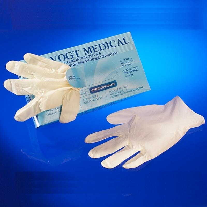 Перчатки латексные нестерильные VogtMedical