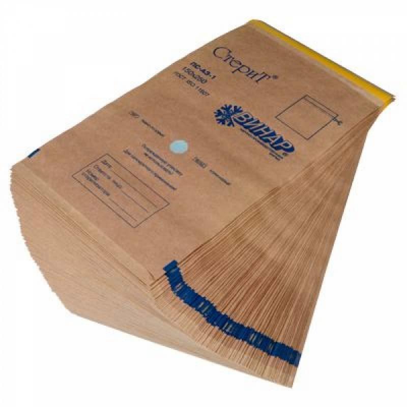 Пакеты из крафт-бумаги для паровой и воздушной стерилизации «СтериТ», ВИНАР.